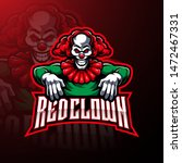 Red Clown Sport Mascot Logo...