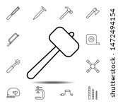 hammer icon. simple thin line ...