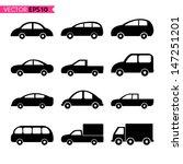 set of car icon vector... | Shutterstock .eps vector #147251201