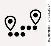 distance icon illustration... | Shutterstock .eps vector #1472515787