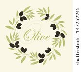 vector decorative wreath olive...