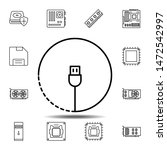 hardware  usb cable icon....