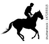 silhouette of a jockey... | Shutterstock .eps vector #147255515