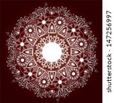 ornamental round lace pattern...   Shutterstock .eps vector #147256997