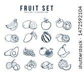 fruit menu set on illustration | Shutterstock .eps vector #1472592104