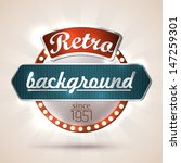 retro style sign with... | Shutterstock .eps vector #147259301
