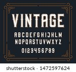 vector illustration of vintage... | Shutterstock .eps vector #1472597624