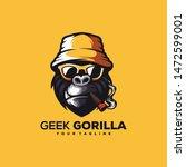 awesome geek gorilla logo design