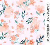 abstract floral seamless... | Shutterstock .eps vector #1472603984