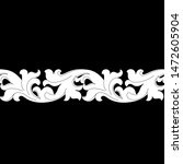black vintage baroque ornament  ... | Shutterstock .eps vector #1472605904
