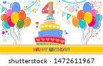 happy birthday card.... | Shutterstock . vector #1472611967