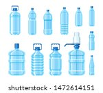 plastic water bottle blue color ... | Shutterstock .eps vector #1472614151