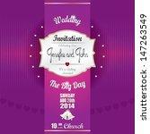 wedding invitation card... | Shutterstock .eps vector #147263549