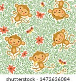 seamless pattern with funny...   Shutterstock .eps vector #1472636084