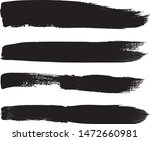 grunge paint stripe . vector... | Shutterstock .eps vector #1472660981