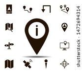 location  info icon. simple... | Shutterstock . vector #1472694314