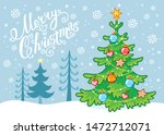 cute merry christmas card... | Shutterstock .eps vector #1472712071