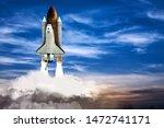A Shuttle Spaceship Taking Off...