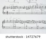 music sheet with corrections... | Shutterstock . vector #14727679