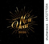 happy 2020 new year. holiday... | Shutterstock .eps vector #1472777054