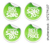 set of sale stickers green | Shutterstock .eps vector #147279137