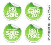 set of sale stickers green | Shutterstock .eps vector #147279137