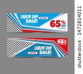 modern labour day web banner... | Shutterstock . vector #1472814011