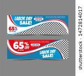 modern labour day web banner... | Shutterstock . vector #1472814017