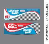 modern labour day web banner... | Shutterstock .eps vector #1472816381