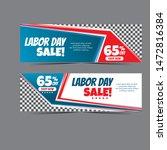 modern labour day web banner... | Shutterstock .eps vector #1472816384
