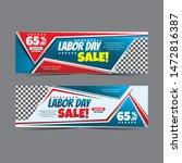 modern labour day web banner... | Shutterstock .eps vector #1472816387