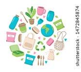 zero waste concept illustration ... | Shutterstock . vector #1472845874