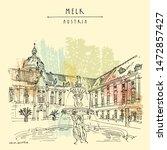Melk. Austria  Europe. Fountain ...