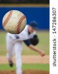 baseball pitcher throwing focus ... | Shutterstock . vector #147286307