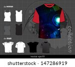 t shirts collection. vector... | Shutterstock .eps vector #147286919
