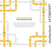 industrial background with... | Shutterstock .eps vector #1472869397