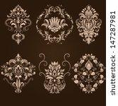 vector set of damask ornamental ... | Shutterstock .eps vector #147287981