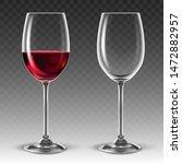 two transparent glasses for... | Shutterstock .eps vector #1472882957