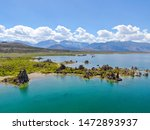 Aerial View Of Mono Lake With...