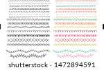 set of sixteen hand drawn...   Shutterstock .eps vector #1472894591