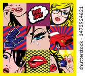 pop art card vector illustration | Shutterstock .eps vector #1472924621
