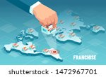 vector of a businessman hand... | Shutterstock .eps vector #1472967701