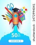 back to school sale poster ... | Shutterstock .eps vector #1472994041