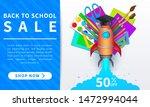 back to school vector promo... | Shutterstock .eps vector #1472994044