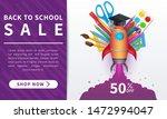 back to school sale banner ... | Shutterstock .eps vector #1472994047