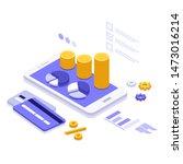 isometric illustration mobile...   Shutterstock .eps vector #1473016214