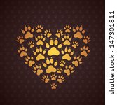 heart of the dog traces. vector ... | Shutterstock .eps vector #147301811