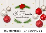 merry christmas and new year... | Shutterstock . vector #1473044711