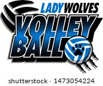 lady wolves volleyball team...   Shutterstock .eps vector #1473054224