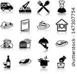 restaurant related icons ... | Shutterstock .eps vector #147307754